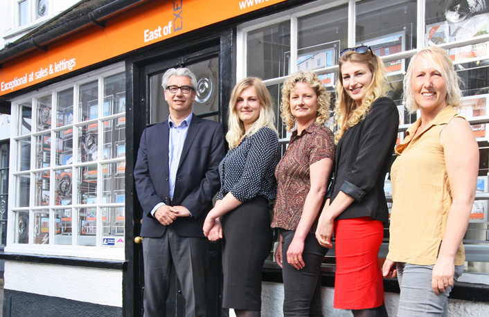 Team Photo: East Devon Sales and Lettings Team - East of Exe