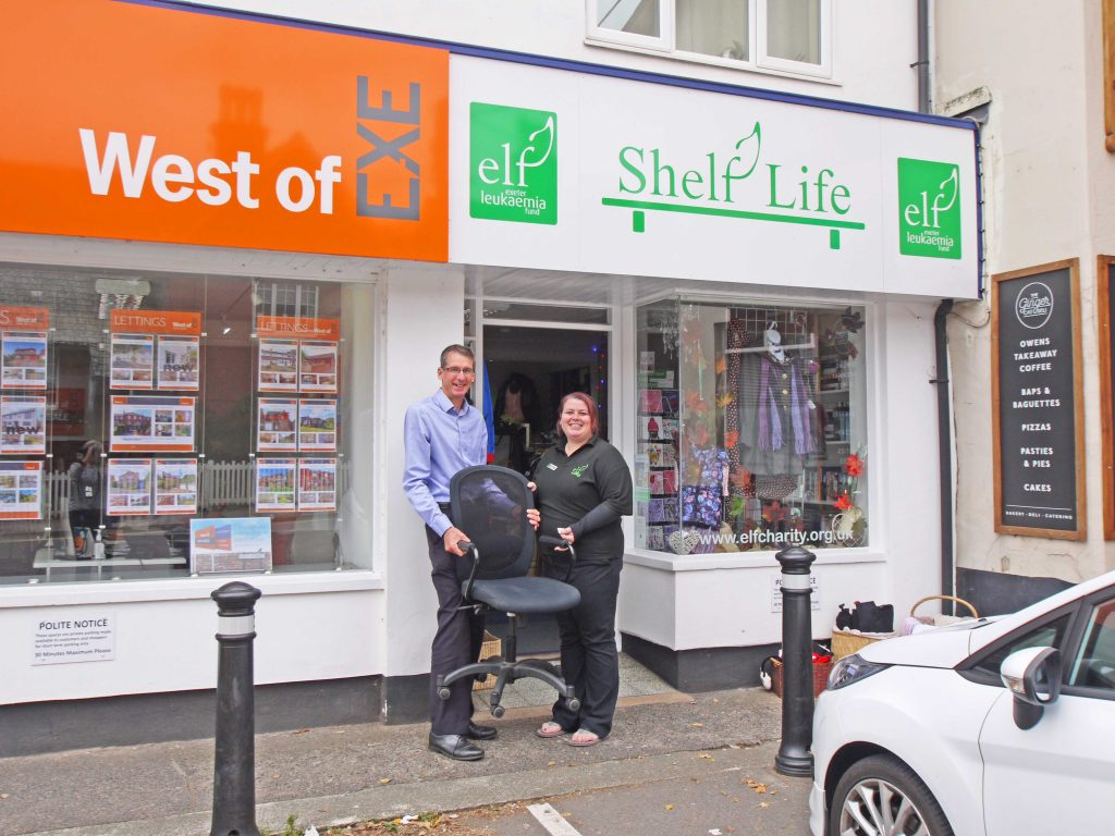 Ian Garcia from West of Exe with Donna Drew, manager of ELF Exminster.